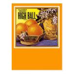High Ball California Oranges Postcard