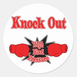 High Blood Pressure Classic Round Sticker