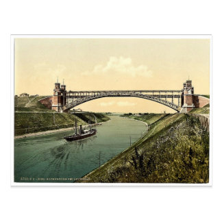 High bridge at Holtenau, Kiel, Schleswig-Holstein, Postcard