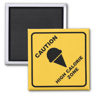 High Calorie Zone 2 Inch Square Magnet