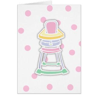 High Chair Card