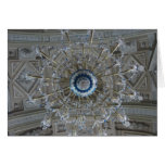 high chandelier greeting card