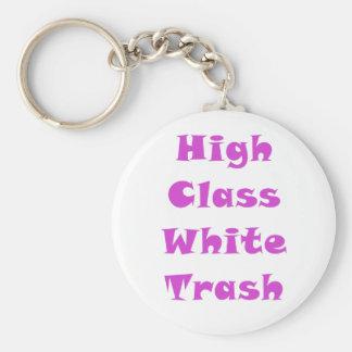 High Class White Trash Keychain