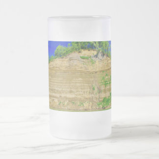 High Cliffs by the Lake Frosted Glass Beer Mug
