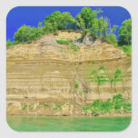 High Cliffs by the Lake Square Sticker