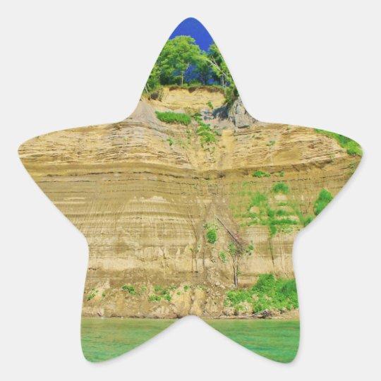 High Cliffs by the Lake Star Sticker