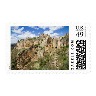 High Cliffs of Ronda in Spain Stamp