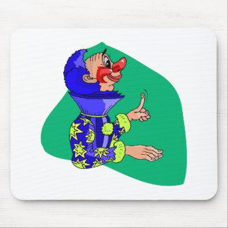 High Collar Clown Mouse Pad