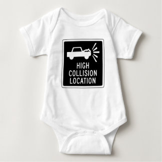 High Collision Location, Traffic Sign, Canada Baby Bodysuit