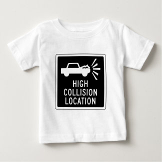 High Collision Location, Traffic Sign, Canada Baby T-Shirt