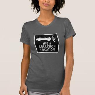 High Collision Location, Traffic Sign, Canada T-Shirt
