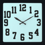 """High Contrast Big Numbers Easy Read Square Wall Clock<br><div class=""""desc"""">Large Numbers Easy Read clock. for the elderly and the vision impaired or for anyone who needs it.</div>"""