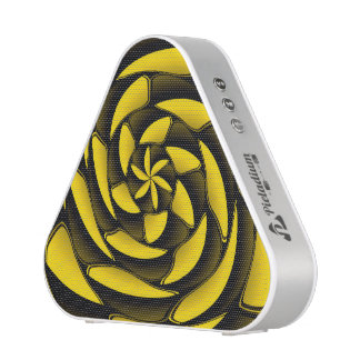 High contrast black and yellow bluetooth speaker