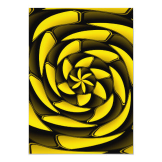 High contrast black and yellow card