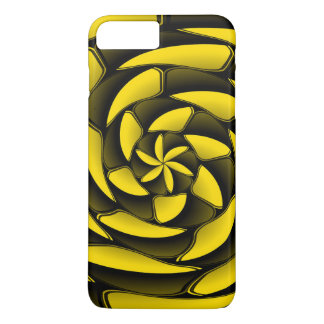 High contrast black and yellow iPhone 7 plus case
