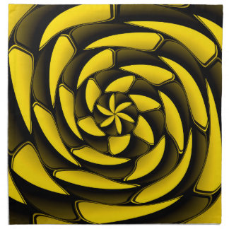 High contrast black and yellow napkin