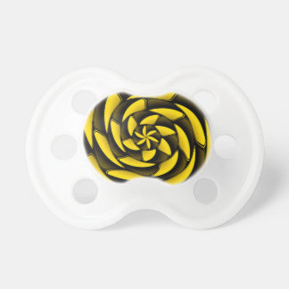 High contrast black and yellow pacifier