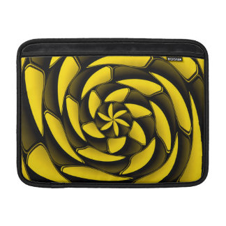 High contrast black and yellow sleeve for MacBook air