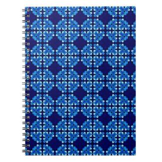 High Contrast Blues Spiral Notebook