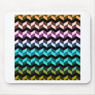 High Contrast Chevron Mouse Pad