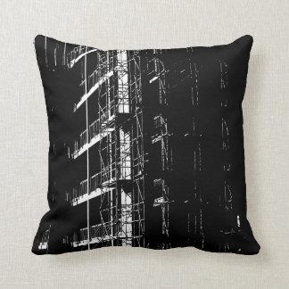 High Contrast Construction Throw Pillow