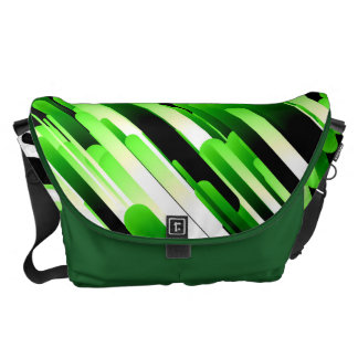 High contrast green courier bag
