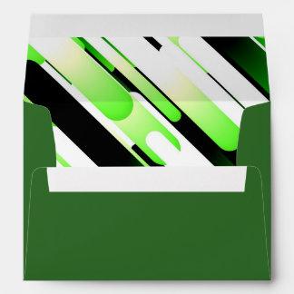 High contrast green envelope