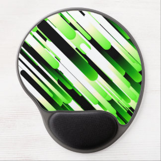 High contrast green gel mouse pad