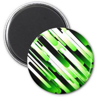 High contrast green refrigerator magnets