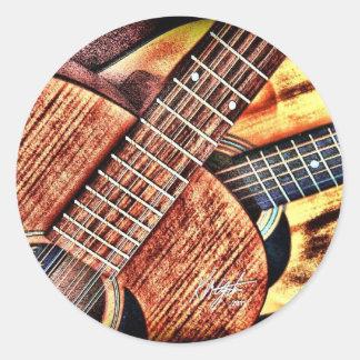 High Contrast Guitars Classic Round Sticker