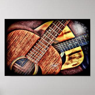 High Contrast Guitars Poster