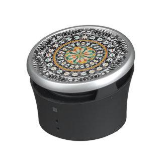 High contrast mandala bluetooth speaker