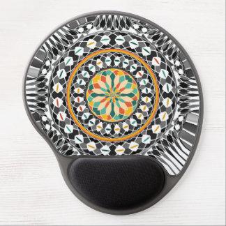 High contrast mandala gel mouse pad