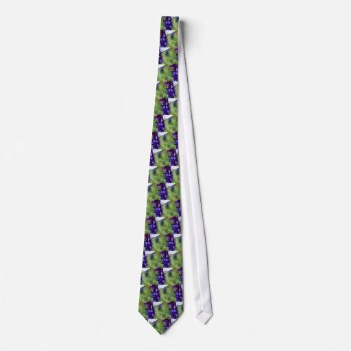 High Contrast Silver Blue Tie
