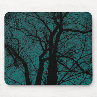 High Contrast Tree - Moss Green Mouse Pad