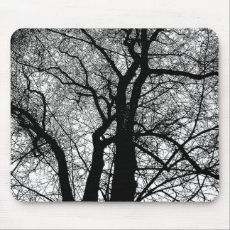 High Contrast Tree Mouse Pad