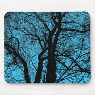 High Contrast Tree - Sky Blue Mouse Pad