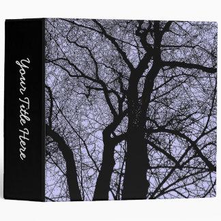 High Contrast Trees (2in) - Powder Blue Binder