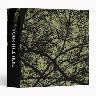 High Contrast Trees - Khaki (1.5in) 3 Ring Binder