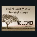 "High Country Family Reunion Custom Welcome Lawn Sign<br><div class=""desc"">Personalize a Welcome sign for your family reunion with this beautiful high country tree silhouette design and your words! You can put different text on each side,  so be sure to add the right text for both.</div>"