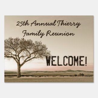 High Country Family Reunion Custom Welcome Lawn Sign