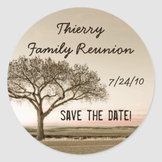 High Country Family Reunion Save the Date Classic Round Sticker