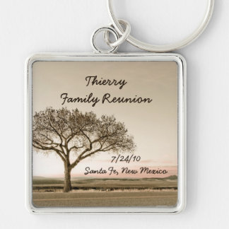 High Country Family Reunion Souvenir Silver-Colored Square Keychain