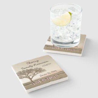 High Country Family Reunion Stone Coaster