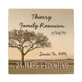 High Country Family Reunion Wood Coaster