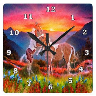High Country Horses Wall Clock