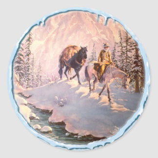 HIGH COUNTRY & ICICLES by SHARON SHARPE Classic Round Sticker