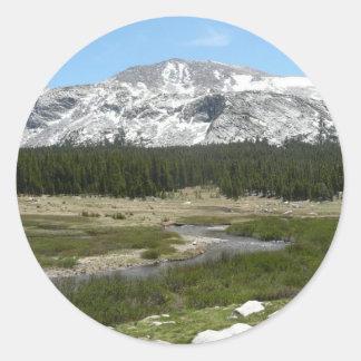High Country Mountain Stream I Yosemite Park Classic Round Sticker
