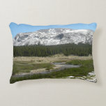 High Country Mountain Stream I Yosemite Park Decorative Pillow