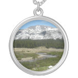 High Country Mountain Stream I Yosemite Park Silver Plated Necklace
